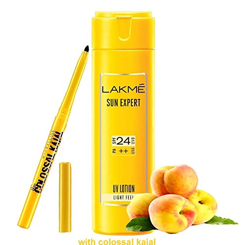 Lakme Sun Expert SPF 24 PA Fairness UV Sunscreen Lotion,120 ml (Tan Removal Specialist )(Now at 29% discount)  available at amazon for Rs.449