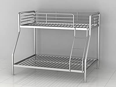 Bunk Bed Triple Metal Frame Children's 3ft Single 4ft6 Double in Silver