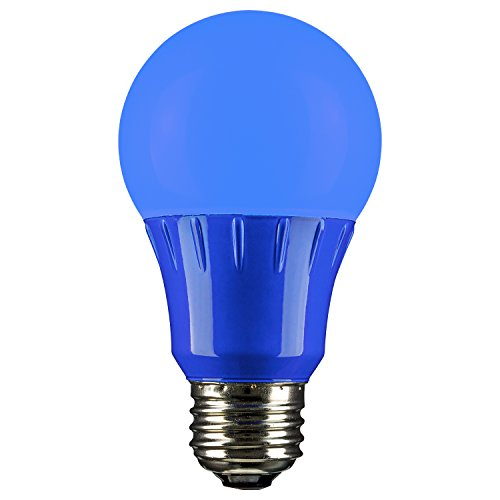 3 Light Medium Base (Sunlite 80145blau LED A193Watt Medium Base 120Volt UL Listed LED Leuchtmittel, blau, 1 Packung 3  120 volts)