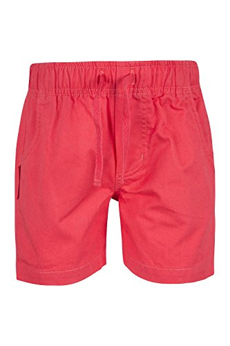 Mountain Warehouse Lakeside Girls Shorts - 100% Cotton, Lightweight & Breathable with 2 Side Pockets, 1 Back Pockets - A Solution for a Fun-Filled Summer & Travelling Coral 9-10 Years
