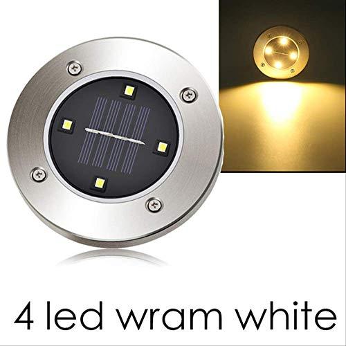 XYQY Garten Lichter LED Outdoor-Dekoration 4/8 LEDs wasserdichte LED Solar betrieben Boden Lampe Straße Weg Rasen Hof Solar Licht 4pcs 4 LED Wram weiß