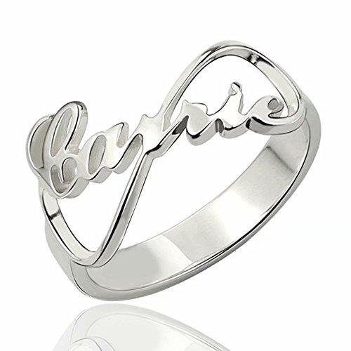 Anello portafortuna in oro sterling panicky a forma di cuore in argento con incisione libera per i regali per le donne di san valentino