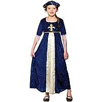 Tudor Princess (Blue) - Kids Costume 11 - 13 years