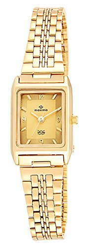 Maxima Formal Gold Analog Multi-Colored Dial Women's Watch - 06115CMLY image