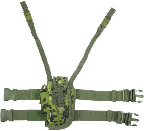 BE-X Taktisches Oberschenkelholster für Pistolen mittlerer Grösse, für Linkshänder - dänisch tarn