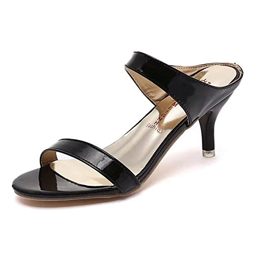 ZYUSHIZ Die High-Heel Schuhe mit Wild Die Fein mit Sandalen rutschhemmend Frau 37EU