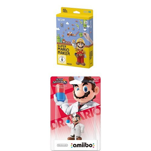 Super Mario Maker - Artbook Edition - [Wii U] + amiibo Figur Smash Dr. Mario