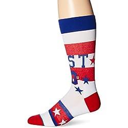 Postura 1980NBA All-Star Game madera Classics Nba calcetines, hombre, azul, large