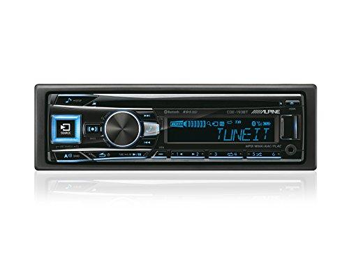 Alpine CDE-193BT Autoradio Bluetooth avec CD/MP3/USB frontal et entrées AUX