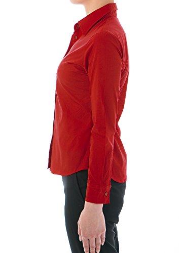 4aab84196654 LEONIS Pflegeleichte Damen Langarm-Popeline-Bluse Rot ...