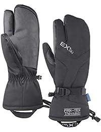 EXski Moufles de Ski 3 Doigts Gants Ski Hiver Homme Thermiques Imperméables  Mitaines Moto Snowboard Chauds 7fc5c8a9b28
