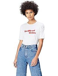 FIND Camiseta con Mensaje con Cuello Redondo Mujer