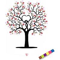 Xiang Bricolage mariage Signature Fingerprint arbres Invités livre toile peinture avec un encadré