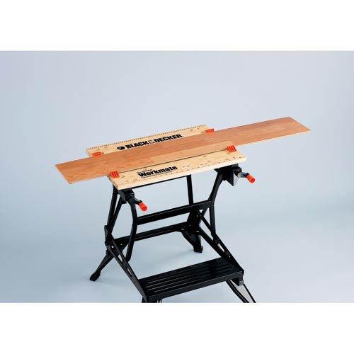Black+Decker flexible Werkbank WM536 mit großer Arbeitsfläche / Höhenverstellbar und einfach handzuhaben / Bis 160 kg belastbar / Maße (Arbeitsfläche): 25,0 x 61,0 cm - 4