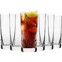 Krosno Vasos de Agua Jugo   Conjunto de 6 Piezas   350 ML   Blended Collection Uso en Casa, Restaurante y en Fiestas   Apto para Microondas y Lavavajillas
