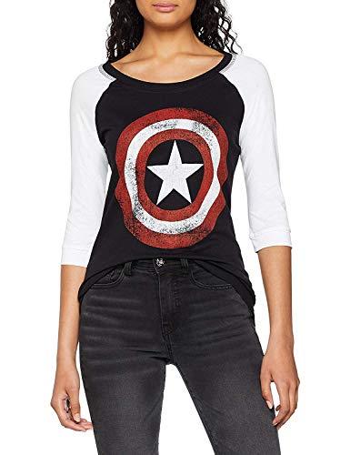 Marvel Comics Captain America Shield, Camiseta para...