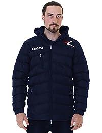 Legea – Cazadora Suomi acolchada con capucha y cremallera entera, Unisex, turquesa, Large
