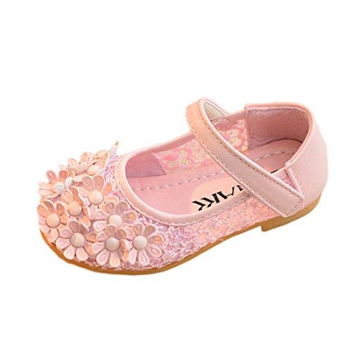 YIBLBOX Mädchen Kinder Schuhe Prinzessin Partei Schuhe Sandalen für Mädchen Kostüm Party ()