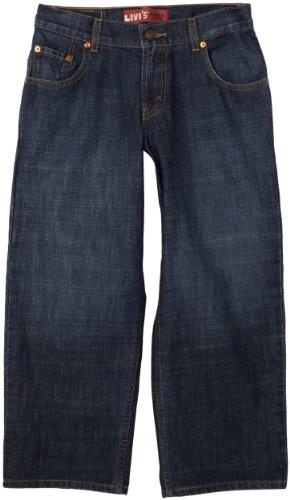 Levi's Boys' Big 550 Relaxed Fit Jeans, Dark Crosshatch, 8 Husky - Jungen Husky Levis