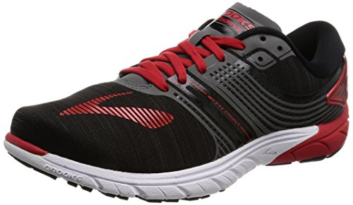 brooks Purecadence 6, Zapatos para Correr para Hombre, Multicolor (Black/Anthracite/Highriskred), 44.5 EU