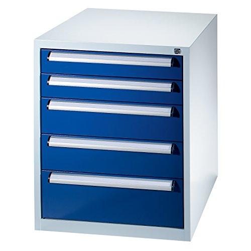 Quipo Werkzeugschrank - Höhe 800 mm, Schubladen 2 x 100, 2 x 150, 1 x 200 mm - Breite 900 mm -...