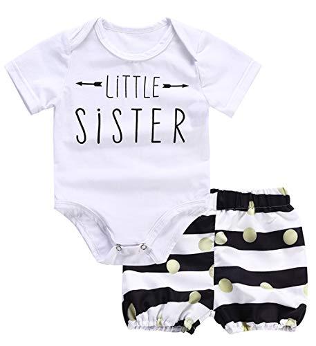 Baby Mädchen Kleidung Outfit Strampler + Rüschen Rock Shorts Kleidung Set (Color : 2, Size : 90)