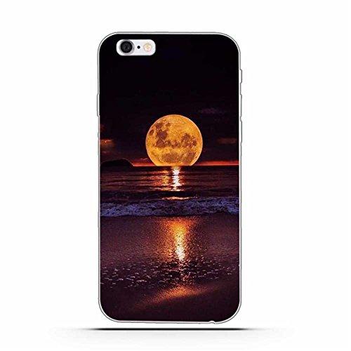 iPhone 6 Hülle, iPhone 6S Hülle, Gift_Source [ Mittelfinger ] Schutz-Hülle Silikon TPU transparent ultra-slim Case Cover ultra-thin durchsichtig für iPhone 6s/6 E1-Mond