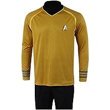 Star Trek Into Darkness Capitán Kirk camiseta Uniforme Disfraz amarillo versión