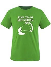 TIME TO GO KITE SURFING - Kinder T-Shirt Gr. 86 bis 164 Diverse Farben