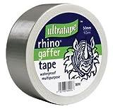 Rhino Cloth Gaffer Tape Silbern 50mm x 10m Wasserfest Mehrzweck Duct Schwere Last Gaffa Reparatur Rolle Stark Teppich Schutz Indoor Outdoor Verpackung Päckchen Bündelung Isolier-und Bindung Verstärkt