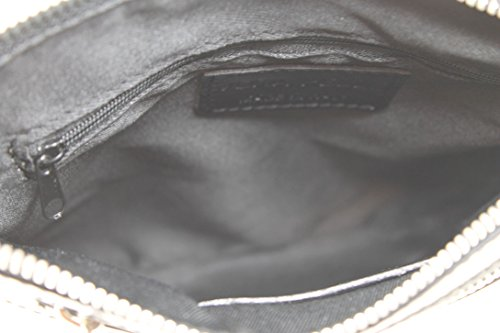CTM Borsa Elegante da Donna con Tracolla, 22x24x4cm, Vera pelle 100% Made in Italy Nero
