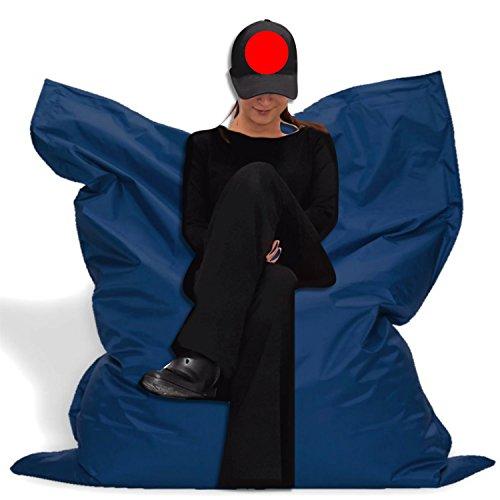 Sitzbag Sitzsack XXXL 180x145cm - Farbe Blau/Marine Outdoor - Mit Füllung Styropor - Sitzsäcke - Bodenkissen Sofa Kind Hocker Möbel Bag Sitzkissen Kissen Sessel