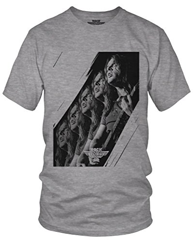 Rock Is Religion Retro Rock Legend Rock Metal Indie Graphic T-Shirt (sports grey/print xxlarge)