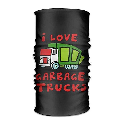 VTXINS Bandana Headband Stylish Love Garbage Trucks Multifunction Magic Handscarf,Face Mask,Neck Gaiter,Balaclava,Sweatband,Head Wrap,Outdoor Sport UV Resistence. 10 * 20inchs