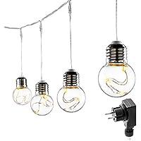 LE Guirnalda Luces LED, Bajo Consumo, 6m 25 Bombillas, Decoración Fiestas, Terraza, Bares, Navidad