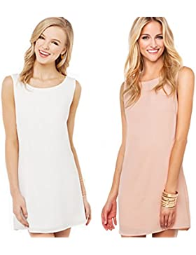 Las mujeres vestido de encaje sin mangas Cocktail Party Mini Dress Summer sundress