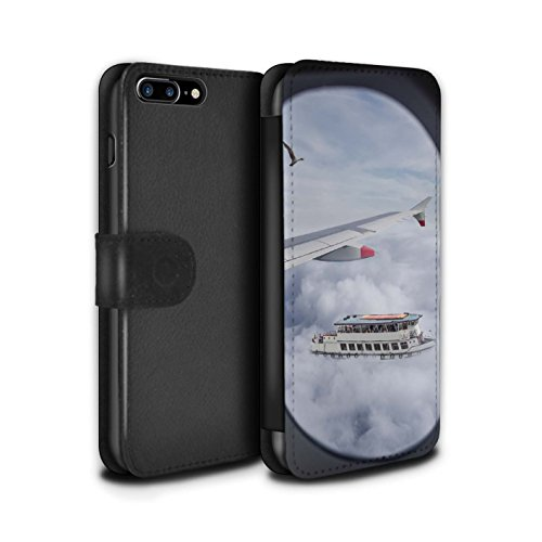 Stuff4 Coque/Etui/Housse Cuir PU Case/Cover pour Apple iPhone 8 Plus / Pack 29pcs Design / Imaginer Collection Cloudspotting