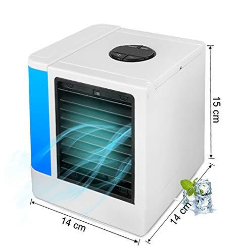r, Tragbarer Mini Tragbare Klimaanlage, Multifunktional Luftbefeuchtung USB-Lüfter Luftreiniger, Verdampfung Digitaler Anzeigebildschirm 7 farbige LED Nachtlicht für Zuhause, Büro ()