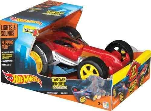 Hot Wheels ``Light n Sound Flipping Fury`` Vehicle