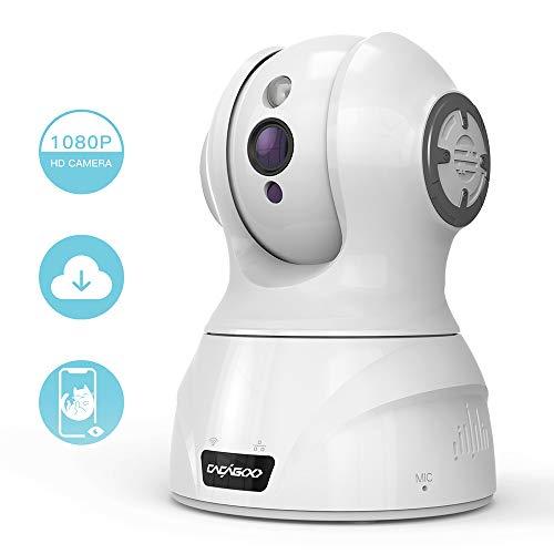 ÜberwachungsKamera innen wlan handy, CACAGOO 1080P WLAN IP Kamera, Bewegungserkennung mit Alarm, Zwei Wege Audio, Nachtsicht für Baby / Pet / Elder (Brennweite-audio-lautsprecher)