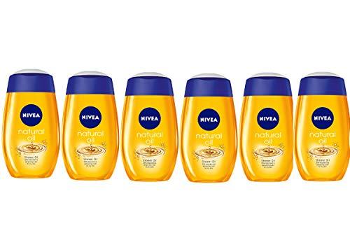 Nivea Natural Oil Dusche, 6 Packungen à 200 ml