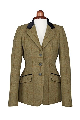 Shires Aubrion Saratoga Competition Tweed Jacket 36 inch Copper Check - Check Tweed-jacke