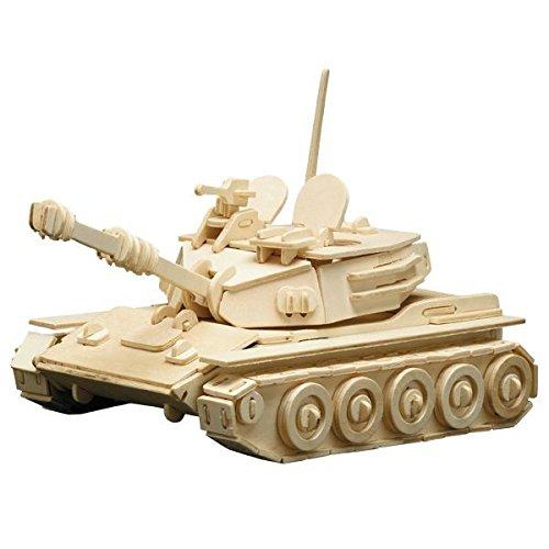 matches21 Holz Bausatz Panzer 172-tlg. 25x16 cm Steckbausatz f. Kinder Holzbausatz ab 10 Jahren
