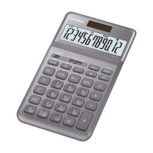 Casio JW-200SC-GY Desktop Calculator (Grey)