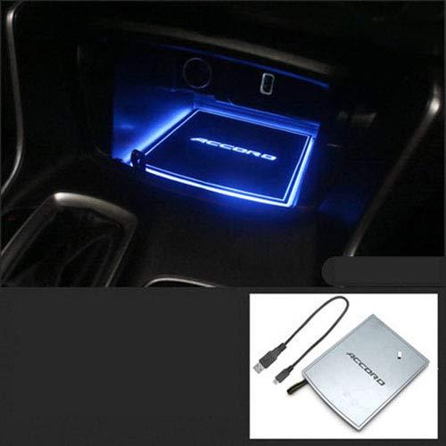 Mmyunx Zehn Generation-Abkommen mit Universal Led Car Cup Holder Lights Insulation Coaster Waterproof Bottle Drink Coaster,storagematiceblue - Car Coaster