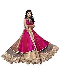 Salwar Suits(Salwar Kameez Dress 2078) - Cream and Pink Occasion Style: Party Wear, Festival Wear, Wedding Wear, Causal Wear, Traditional Wear, Bridal Wear, Classical Wear, Sophisticated Wear, Trendy Wear, Elegant Wear