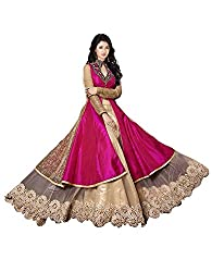 Maxthon Fashion Women's Bangalore Silk Dress Material (Max_salwarsuits_dresses_2078_Pink)