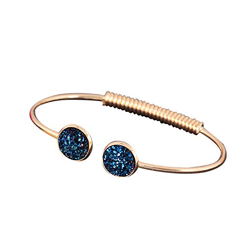 UINGKID Damen-Armband Charm Kreative Stilvolle Mode- -Gold-Silber-Punk-Manschette- -Armreif-Kette- ()