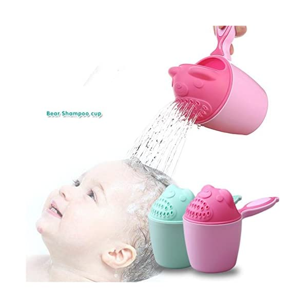 HOMEBABY Baby Spoon Shower Bath Water Swimming Bailer Shampoo Cup Children's Products- Baby Shower Decorations Baby Shower Favours