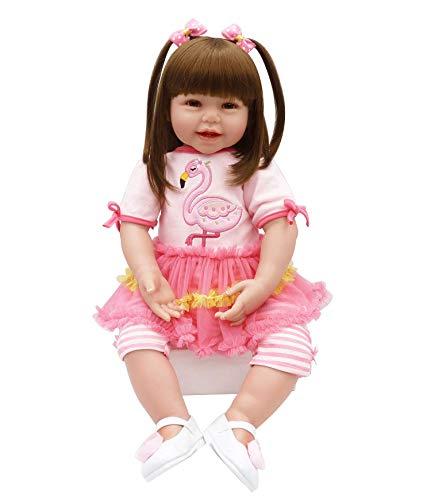 35745e66e Pursue Baby Corps Mou Réaliste Reborn Bambin Fille Poupée avec de Longs  Cheveux